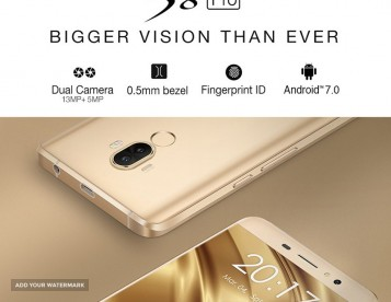 Ulefone S8 Pro 4G Quad Core Smartphone - 16GB, Android 7, 2 SIM's, 13MPX Camera - Golden