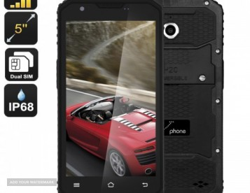 M3 Rugged 5inch 4G Quad Core- 2 SIMS - IP68 Android Smartphone, Waterproof, Dustproof and Shockproof