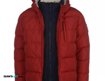 RED 2 Zip Winter Coat