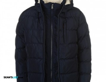 Navy 2 Zip Winter Coat