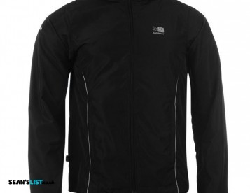 Showerproof, Breathable Running Jacket - Black