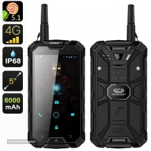 4G Rugged Tough Mobile Phone, SIM Free + Compass + TLKER