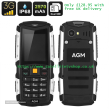 AGM Rugged IP68 Waterproof,Shockproof, Dustproof 3G 2 Inch Display Mobile Phone