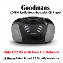 Goodmans Boombox FM with CD Player